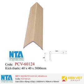 Nẹp V ngoài NTA PCV-60124 | 40x40mm
