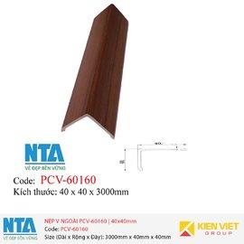 Nẹp V ngoài NTA PCV-60160 | 40x40mm
