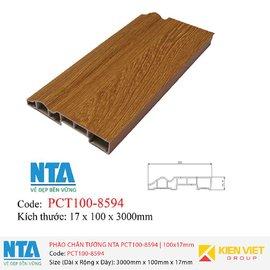 Phào chân tường NTA PCT100-8594 | 100x17mm
