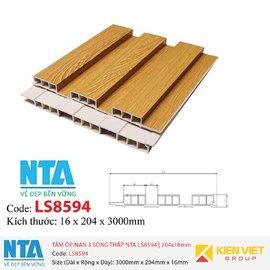 Tấm ốp nan 3 sóng thấp NTA LS8594 | 204x16mm