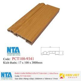 Phào chân tường NTA PCT100-9341 | 100x17mm
