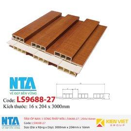 Tấm ốp nan 3 sóng thấp NTA LS9688-27 | 204x16mm