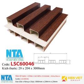 Tấm ốp nan 3 sóng cao NTA LSC60046 | 204x29mm