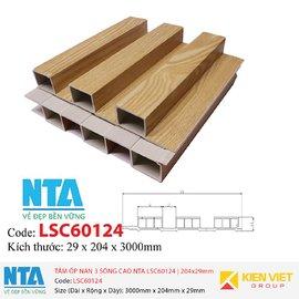 Tấm ốp nan 3 sóng cao NTA LSC60124 | 204x29mm