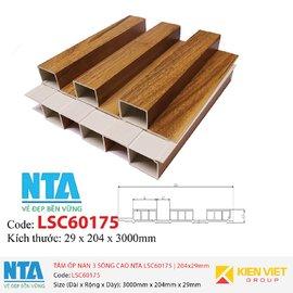 Tấm ốp nan 3 sóng cao NTA LSC60175 | 204x29mm