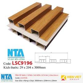 Tấm ốp nan 3 sóng cao NTA LSC9196 | 204x29mm