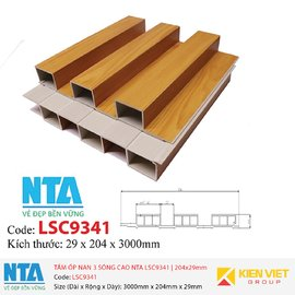 Tấm ốp nan 3 sóng cao NTA LSC9341 | 204x29mm