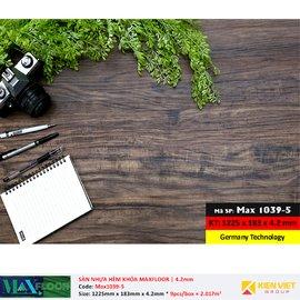 Sàn nhựa hèm khóa MaxFloor 1039-5 | 4.2mm