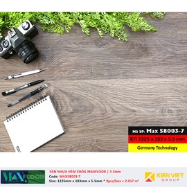 Sàn nhựa hèm khóa MaxFloor 58003-7 | 5.5mm