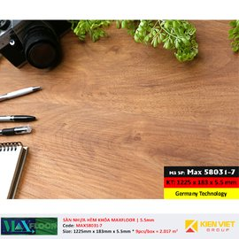 Sàn nhựa hèm khóa MaxFloor 58031-7 | 5.5mm