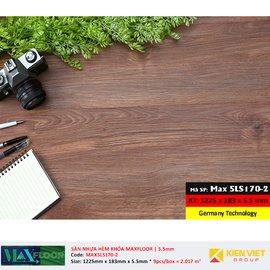 Sàn nhựa hèm khóa MaxFloor 5LS170-2 | 5.5mm