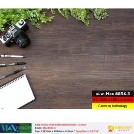 Sàn nhựa hèm khóa MaxFloor 8036-3 | 4.2mm