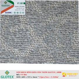 Sàn nhựa hèm khóa vân thảm GLOTEX VT801 | 4mm