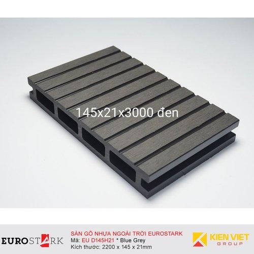 Sàn gỗ ngoài trời EuroStark EU-D145H21 Xám Đen