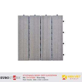 Sàn gỗ ngoài trời vỉ gỗ nhựa EuroStark EU-DIY300BN Xám Đen