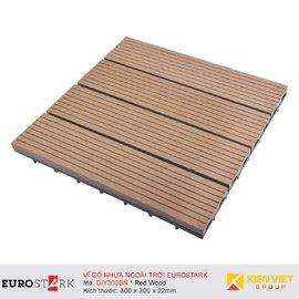 Sàn gỗ ngoài trời vỉ gỗ nhựa EuroStark EU-DIY300BN Vàng Gỗ