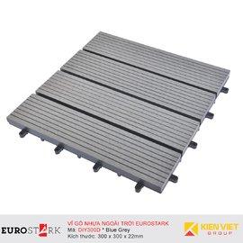 Sàn gỗ ngoài trời vỉ gỗ nhựa EuroStark EU-DIY300D Xám Đen