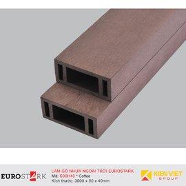 Sàn gỗ ngoài trời hệ lam gỗ nhựa EuroStark EU-S90H40 Coffee