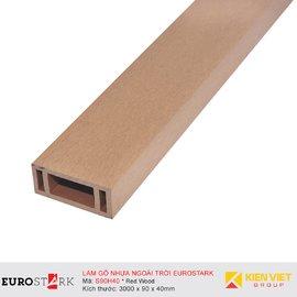 Sàn gỗ ngoài trời hệ lam gỗ nhựa EuroStark EU-S90H40 Vàng Gỗ