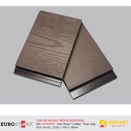 Sàn gỗ ngoài trời ốp tường ngoại thất EuroStark EU-W140H16
