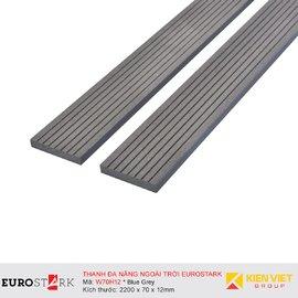 Sàn gỗ ngoài trời thanh đa năng EuroStark EU-W70H12 Xám Đen