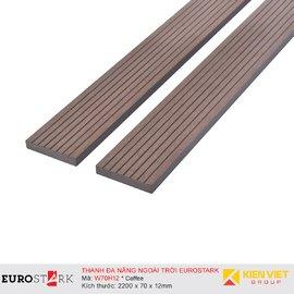 Sàn gỗ ngoài trời thanh đa năng EuroStark EU-W70H12 Coffee