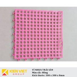 Vỉ nhựa PVC trải sàn sàn | Hồng
