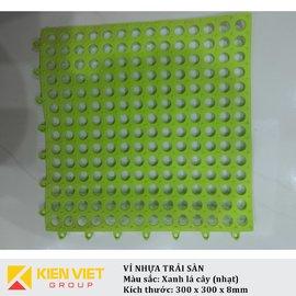 Vỉ nhựa PVC trải sàn sàn | Xanh lá cây nhạt