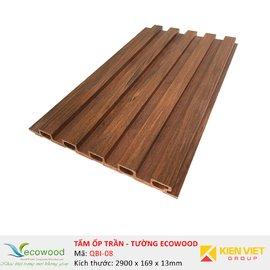 Tấm ốp tường trần EcoWood QBI-08 | 169x13mm