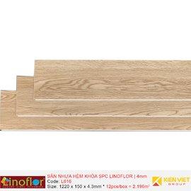 Sàn nhựa hèm khóa Linoflor SPC L616   4mm