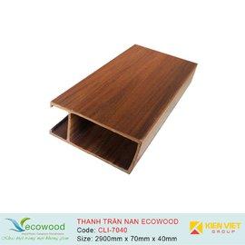 Thanh trần nan Louver EcoWood CLI-7040 | 70x40mm