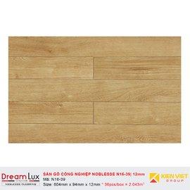 Sàn gỗ công nghiệp cốt đen Noblesse N16-39   12mm