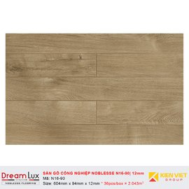 Sàn gỗ công nghiệp cốt đen Noblesse N16-90   12mm