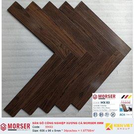 Sàn gỗ công nghiệp xương cá Morser MX83 | 8mm