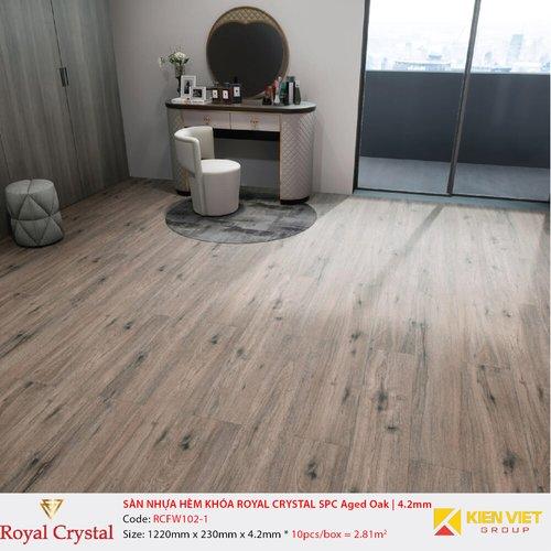 Sàn nhựa hèm khóa Royal Crystal SPC Classic Oak   RCFW102-1   4.2mm