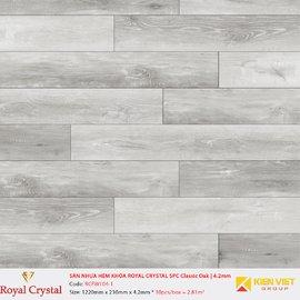 Sàn nhựa hèm khóa Royal Crystal SPC Classic Oak   RCFW104-1 | 4.2mm