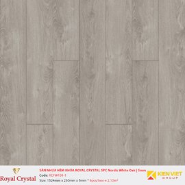 Sàn nhựa hèm khóa Royal Crystal SPC Nordic White Oak RCFW101-1 | 5mm