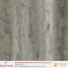 Sàn nhựa hèm khóa Royal Crystal SPC Red Oak RCFW109-1 | 5mm