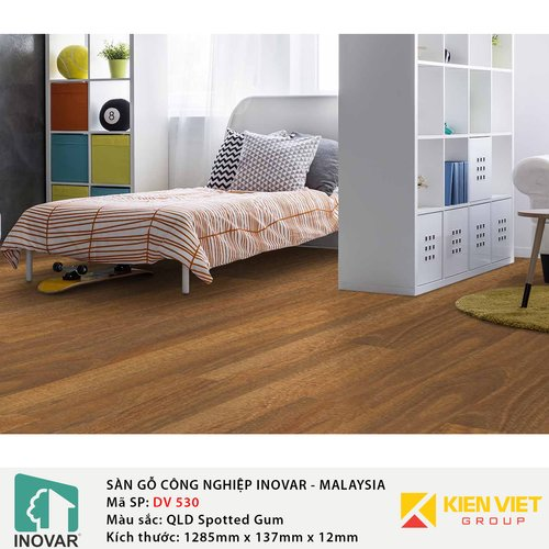 Sàn gỗ Inovar Durashine DV530 QLD Spotted Gum | 12mm