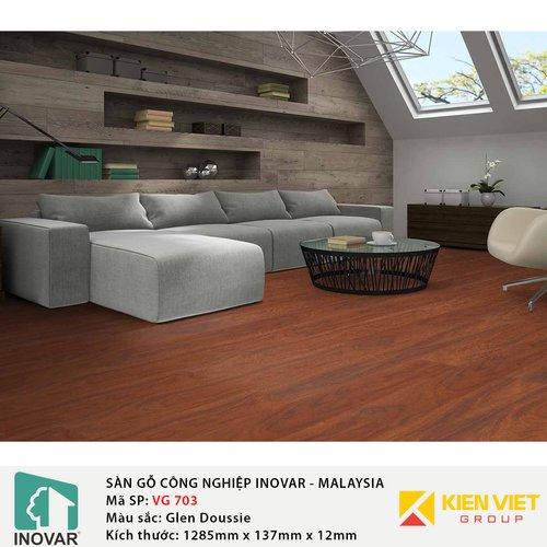 Sàn gỗ Inovar V-Groove VG703 Glen Doussie | 12mm