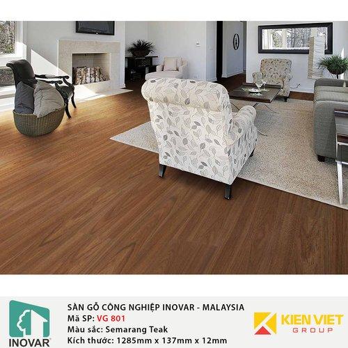 Sàn gỗ Inovar V-Groove VG801 Semarang Teak | 12mm