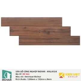 Sàn gỗ công nghiệp Inovar - Malaysia MF866 American Walnut   8mm
