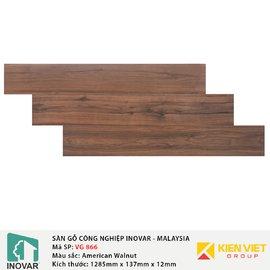 Sàn gỗ Inovar V-Groove VG866 American Walnut | 12mm