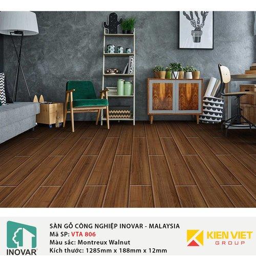 Sàn gỗ Inovar Elite Pro VTA806 Montreux Walnut | 12mm