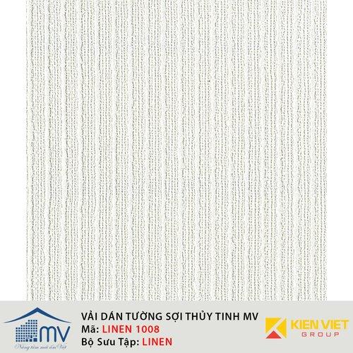 Vải sợi thủy tinh dán tường MV LINEN 1008