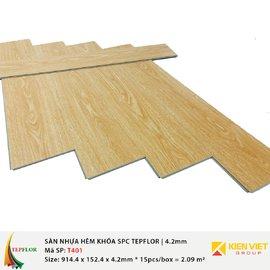 Sàn nhựa hèm khóa SPC TepFlor T401 | 4.2mm