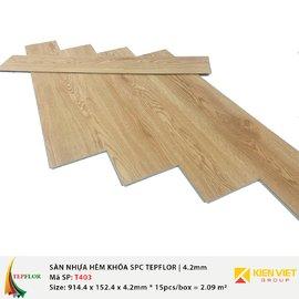 Sàn nhựa hèm khóa SPC TepFlor T403 | 4.2mm