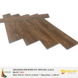 Sàn nhựa hèm khóa SPC TepFlor T405 | 4.2mm