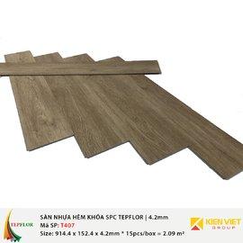 Sàn nhựa hèm khóa SPC TepFlor T407 | 4.2mm