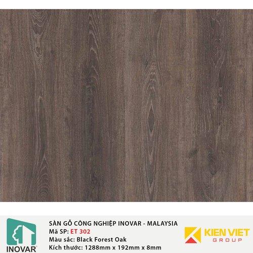 Sàn gỗ công nghiệp Inovar - Malaysia ET302 BlackForest Oak | 8mm